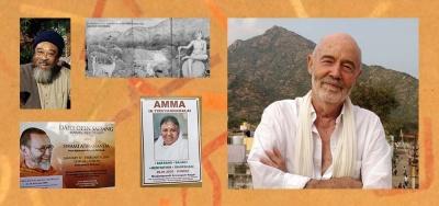 Der Buchautor Subhuti Anand Waight in Indien vor dem Berg Arunachala